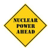 Nuclear Power Ahead Sign — Stock Photo