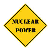 Nuclear Power Sign — Stock Photo