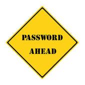 Password Ahead Sign — Stock Photo