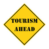 Tourism Ahead Sign — Stock Photo