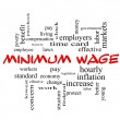 Minimum Wage Word Cloud Concept in red caps — Stock Photo #44857529