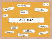 Asthma Corkboard Word Concept — Stock Photo