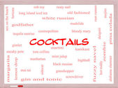 Cocktails Word Cloud Concept on a Whiteboard — Stock Photo