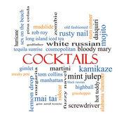 Cocktails Word Cloud Concept — Stock Photo