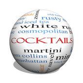 Cocktails 3D sphere Word Cloud Concept — Stock Photo