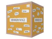 Minimum Wage 3D cube Corkboard Word Concept — Stock Photo