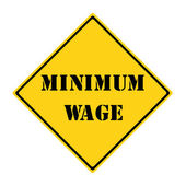 Minimum Wage Sign — Stock Photo