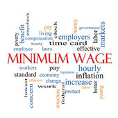 Minimum Wage Word Cloud Concept — Stock Photo