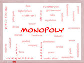 Monopoly Word Cloud Concept on a Whiteboard — Stock Photo