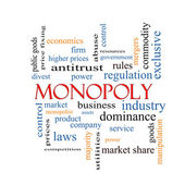 Monopoly Word Cloud Concept — Stock Photo