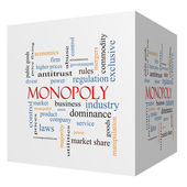Monopoly 3D cube Word Cloud Concept — Stock Photo