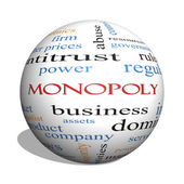 Monopoly 3D sphere Word Cloud Concept — Stock Photo