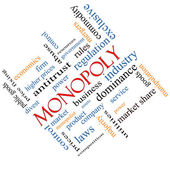 Monopoly Word Cloud Concept Angled — Stock Photo