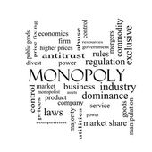 Monopoly Word Cloud Concept in black and white — Stock Photo