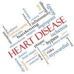 Постер, плакат: Heart Disease Word Cloud Concept Angled