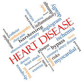Heart Disease Word Cloud Concept Angled — Stock Photo