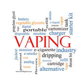 Vaping Word Cloud Concept — 图库照片
