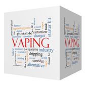 Vaping 3D cube Word Cloud Concept — Foto de Stock