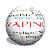 Vaping 3D sphere Word Cloud Concept — Stock Photo