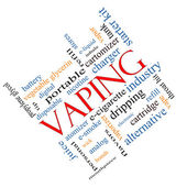 Vaping Word Cloud Concept Angled — Photo