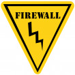 Firewall Triangle Sign — Stock Photo