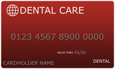 Red Dental Care Card — Stock Photo