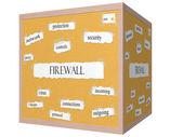 Firewall 3D cube Corkboard Word Concept — Stock Photo