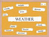 Weather Corkboard Word Concept — Stock Photo