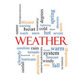 Weather Word Cloud Concept — Stock Photo