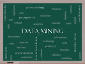 Data Mining Word Cloud Concept on a Blackboard — Stock Photo