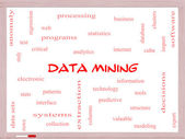 Data Mining Word Cloud Concept on a Whiteboard — Stock Photo