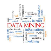 Data Mining Word Cloud Concept — Stock Photo