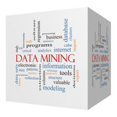 Data Mining 3D cube Word Cloud Concept — Stock Photo