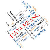 Data Mining Word Cloud Concept Angled — Stock Photo