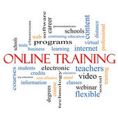 Online Training Word Cloud Concept — Stock Photo