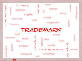 Trademark Word Cloud Concept on a Whiteboard — Stock Photo