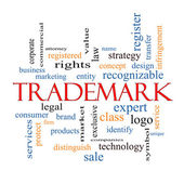 Trademark Word Cloud Concept — Stock Photo