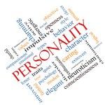Постер, плакат: Personality Word Cloud Concept Angled