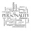 Постер, плакат: Personality Word Cloud Concept in black and white
