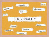 Personality Corkboard Word Concept — Stock Photo