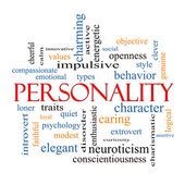 Personality Word Cloud Concept — Stock Photo