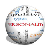 Personality 3D sphere Word Cloud Concept — Stock Photo