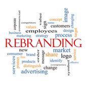 Rebranding Word Cloud Concept — Stock Photo