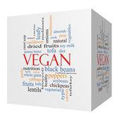 Vegan 3D cube Word Cloud Concept — Stock Photo