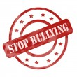 Red Weathered Stop Bullying Stamp Circles and Stars — Stock Photo #46064235