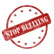 Red Weathered Stop Bullying Stamp Circle and Stars — Stock Photo #46064247