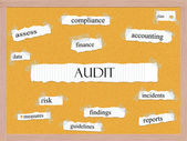 Audit Corkboard Word Concept — Stock Photo