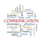 Concept de cloud pour le mot communication — Photo