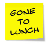 Gone to Lunch Sticky Note — Stockfoto