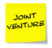 Joint Venture Sticky Note — Stock Photo